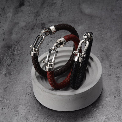 Eternal Bond Leather Bracelet