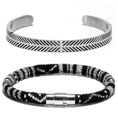 Metali Retro Bracelet Set 2pcs