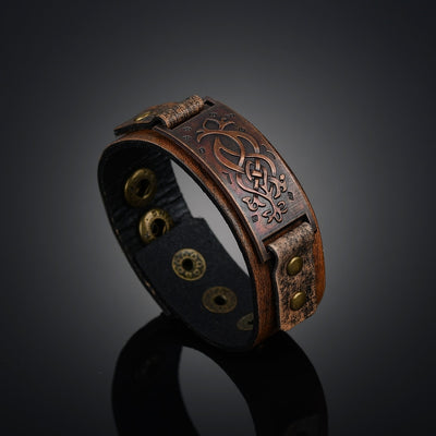 Roman Force Leather Bracelet