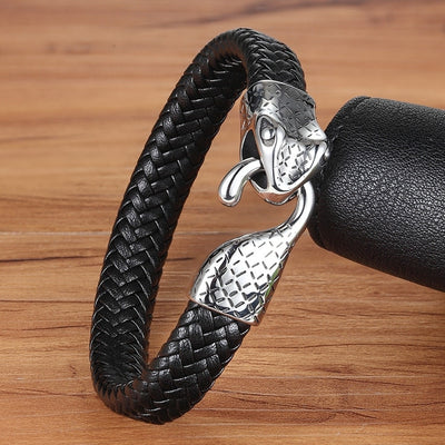 Ouroboros Infinite Leather Bracelet