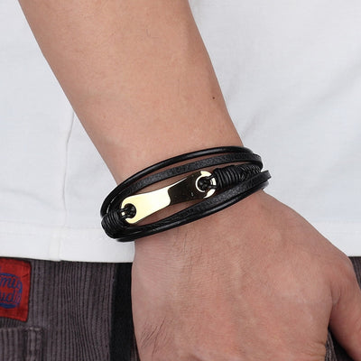 Geometrio Leather Bracelet