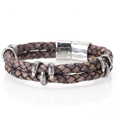 Dragon's Claw Leather Bracelet