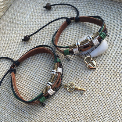 Seal the Heart Couple Bracelet Set 2pcs