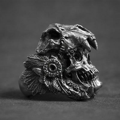 Aztec Jaguar Warrior Ring
