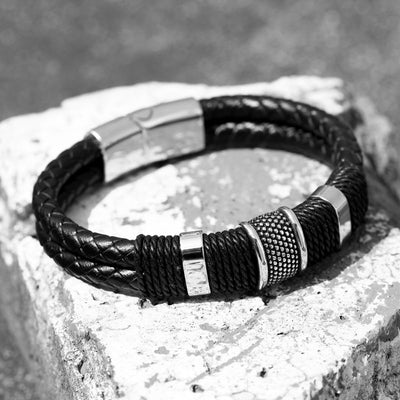 Breath of Centuries Leather Bracelet