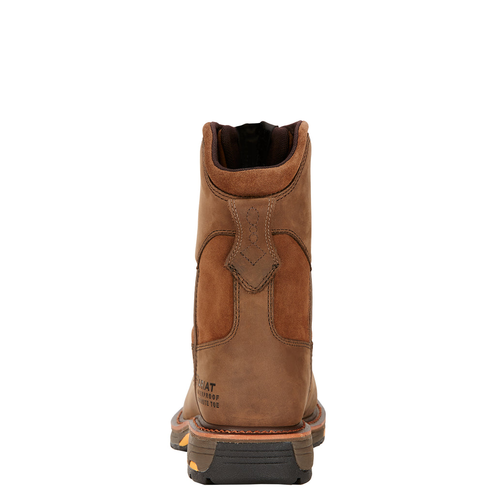 "Ariat WorkHog 8"" Wide Square Toe Waterproof Work Boot (Composite Toe)"
