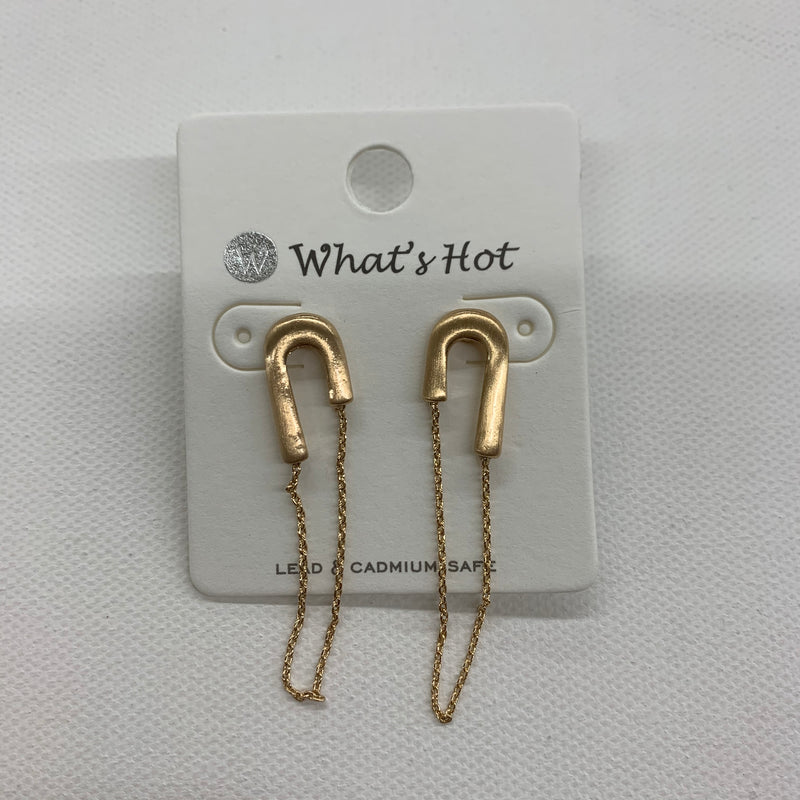New Trending Pin Earring GOLD