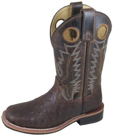 Smoky Mountain Boots Ostrich Print Square Toe (Children)
