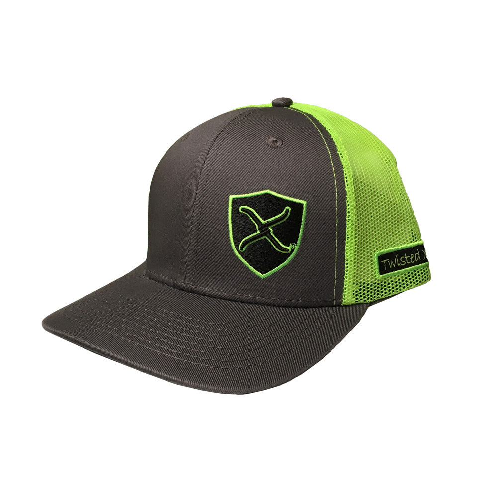 Twisted X Neon Green & Gray Adjustable Snapback Hat
