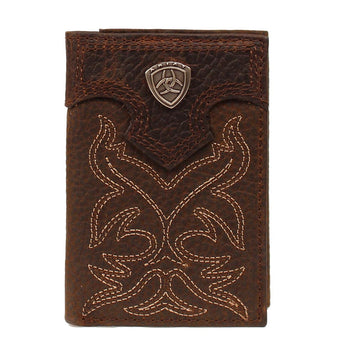 Ariat Trifold Leather Wallet