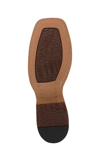 Justin Caddo Brown Bent Rail Boot