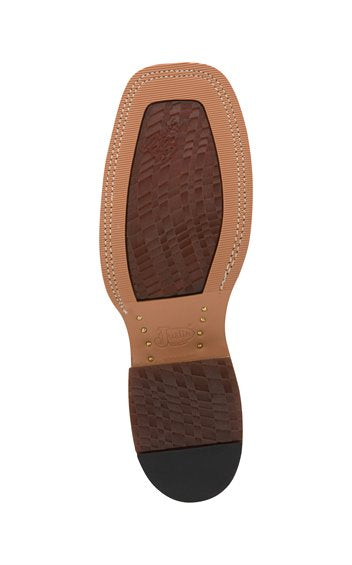 Justin Caddo Cognac Damiana Bent Rail Boot