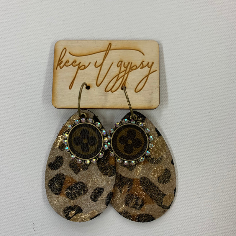 Upcycled LV Earrings SHINYLEO