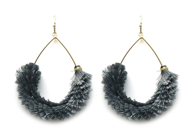 Fan Flare Earrings GREY