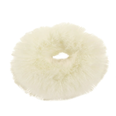 White Fur Scrunchie