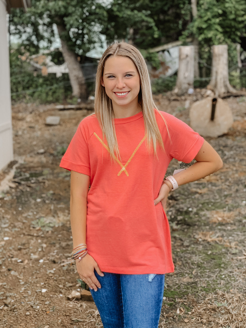 Small Talk Top CORAL