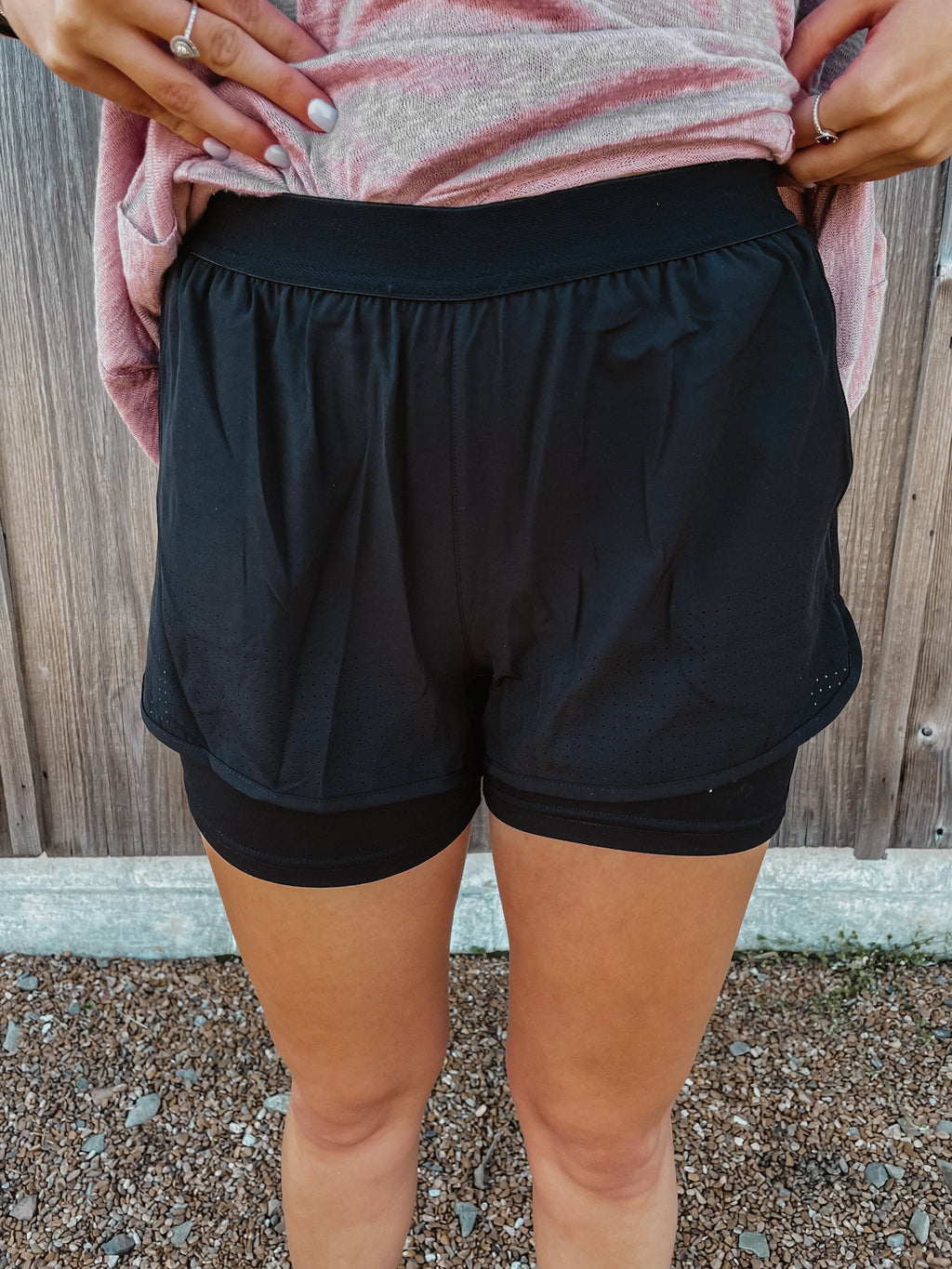 A Perfect Fit Black Shorts