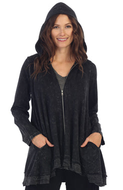 Jess & Jane Mineral Wash Jacket BLACK