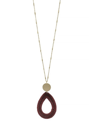 Rebel You Necklace MAROON