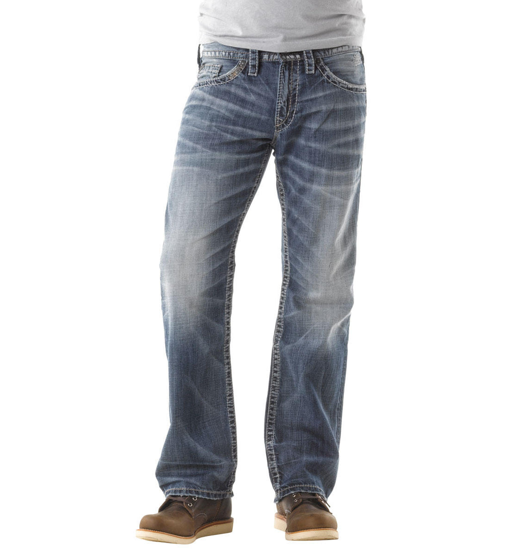 Silver Zac Straight Leg Light Wash Jeans