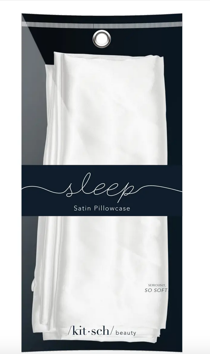 Ivory Satin Pillowcase by Kitsch