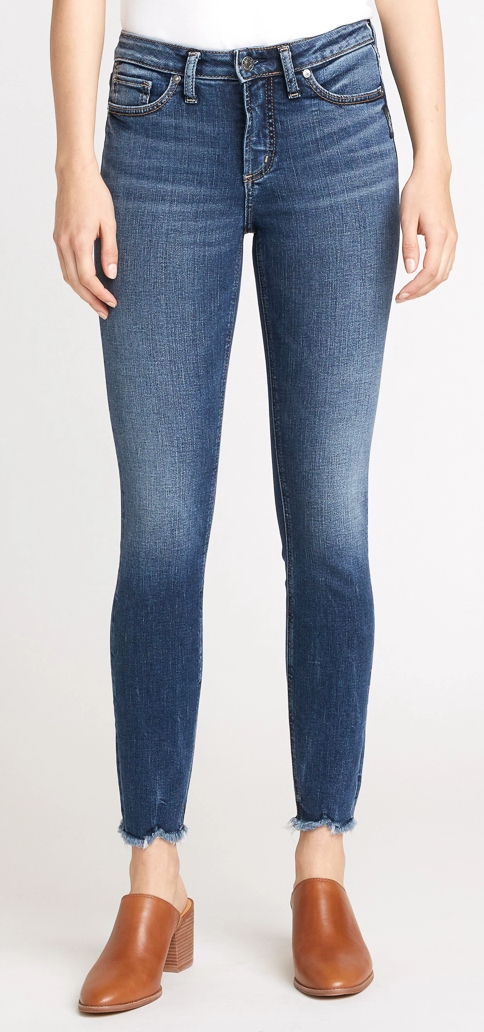 Most Wanted Mid Rise Skinny Jean By Silver 31""