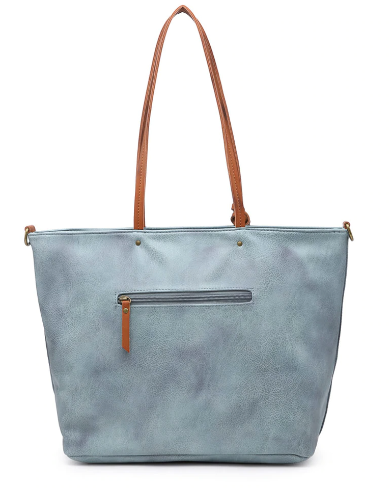 The Contrast Handle Tote TAN