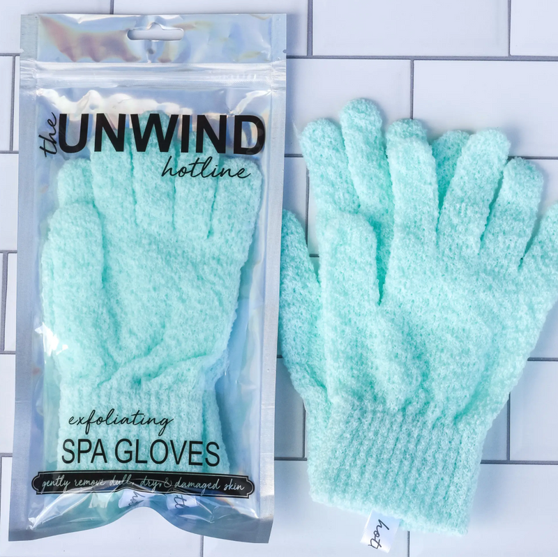 Exfoliating Spa Gloves (Mint)
