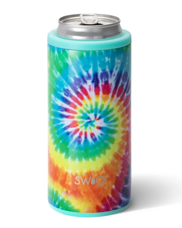 Swirled Peace Skinny Can Cooler (12 oz) by Swig