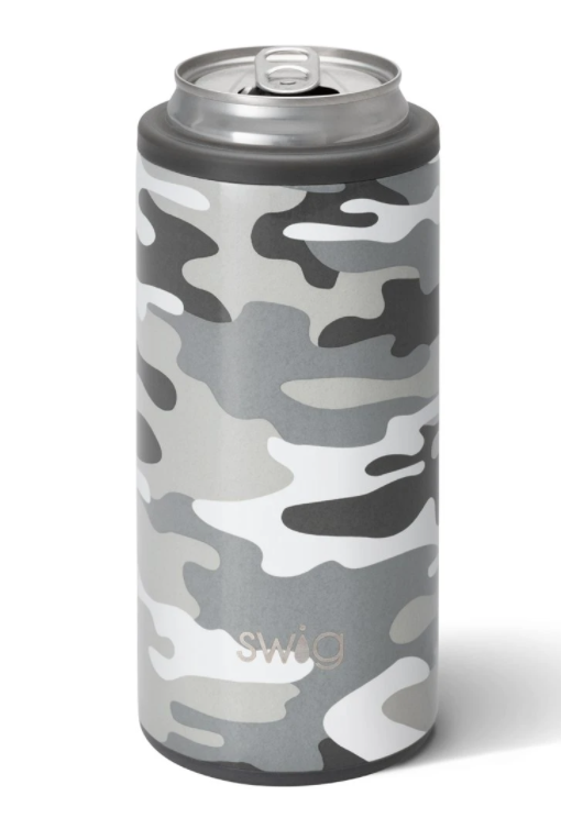 Incognito Camo Skinny Can Cooler (12oz) By Swig