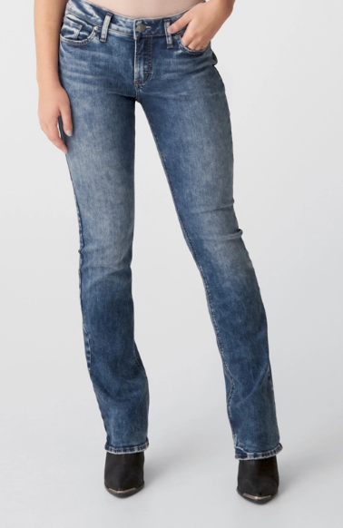 Elyse Mid Rise Slim Bootcut Jeans By Silver