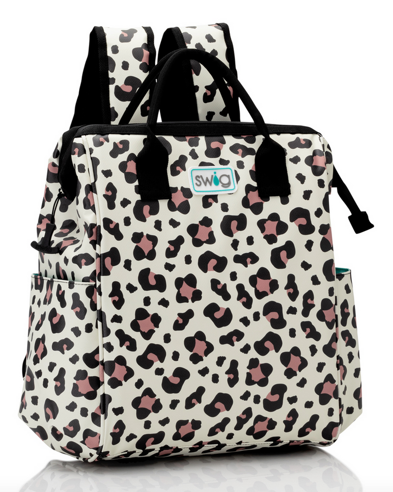 Luxy Leopard Packi Backpack Cooler by Swig