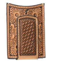 Ariat Floral & Basket Stamp Magnetic Money Clip Wallet