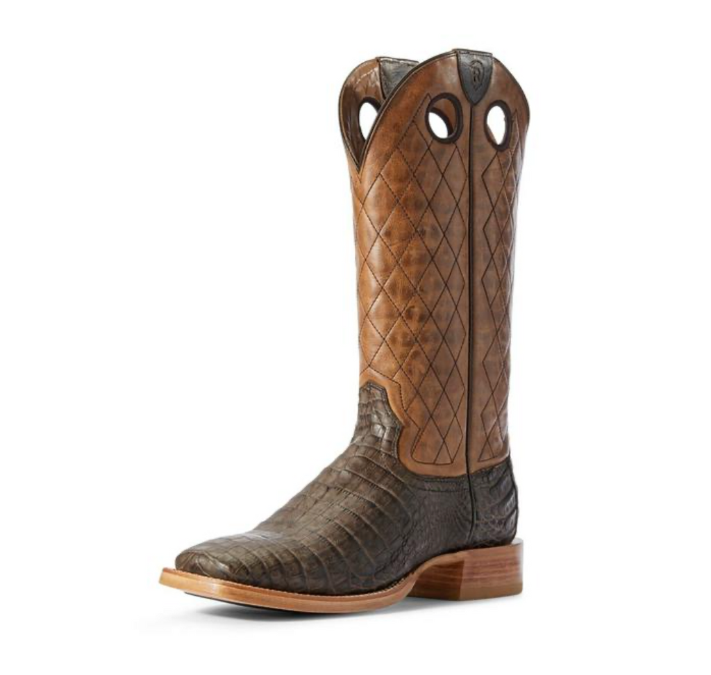 Ariat Relentless Winner's Circle Chocolate Caiman Western Boots