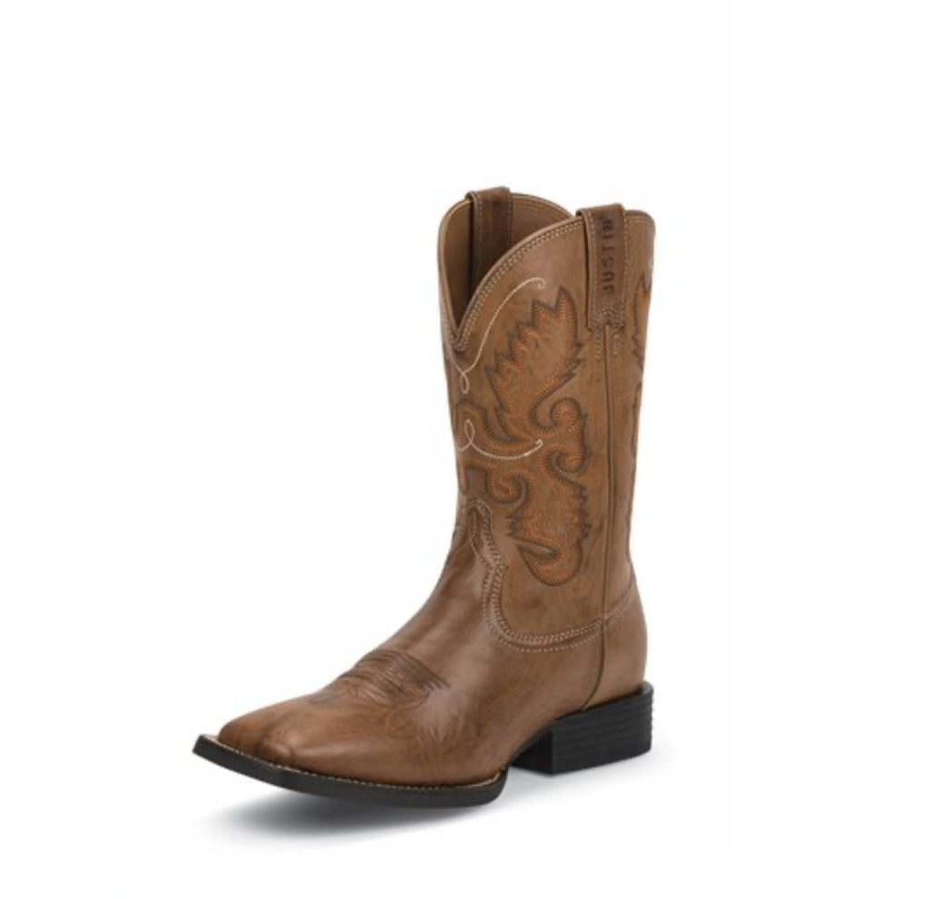 Justin Hinton Brown Western Boot