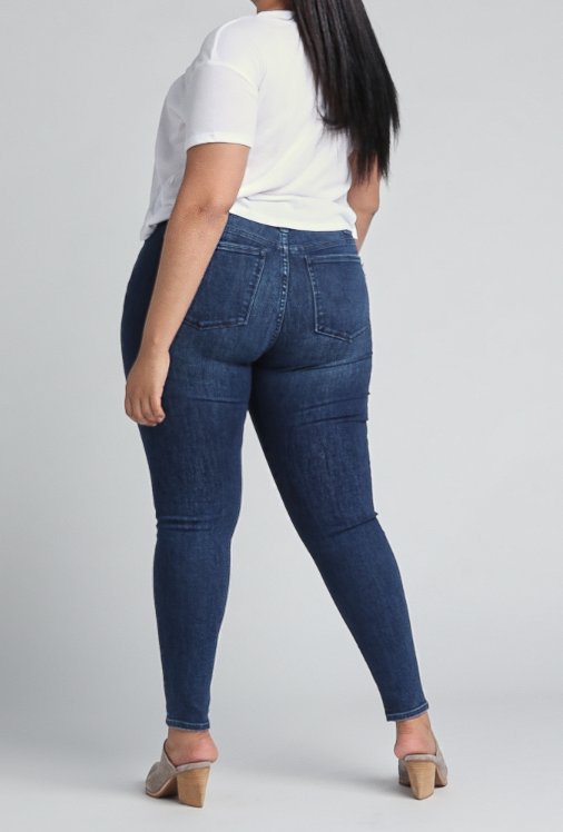 Most Wanted Mid Rise Skinny Leg Jeans Plus Size by Silver