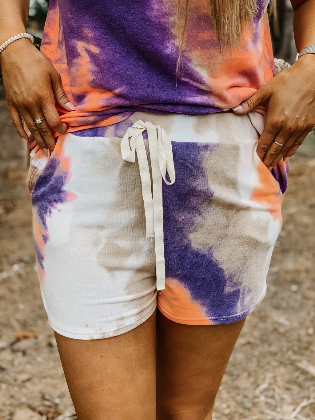 Purple Rain Tie Dye Shorts