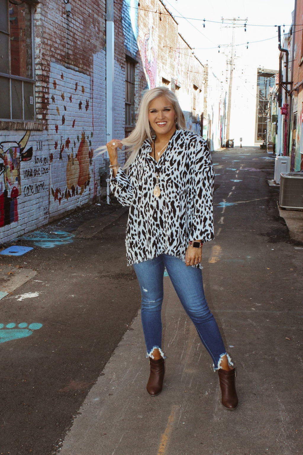 Time To Charm Leopard Top PLUS
