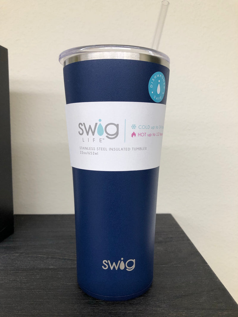Matte Navy Tumbler (22oz) By Swig