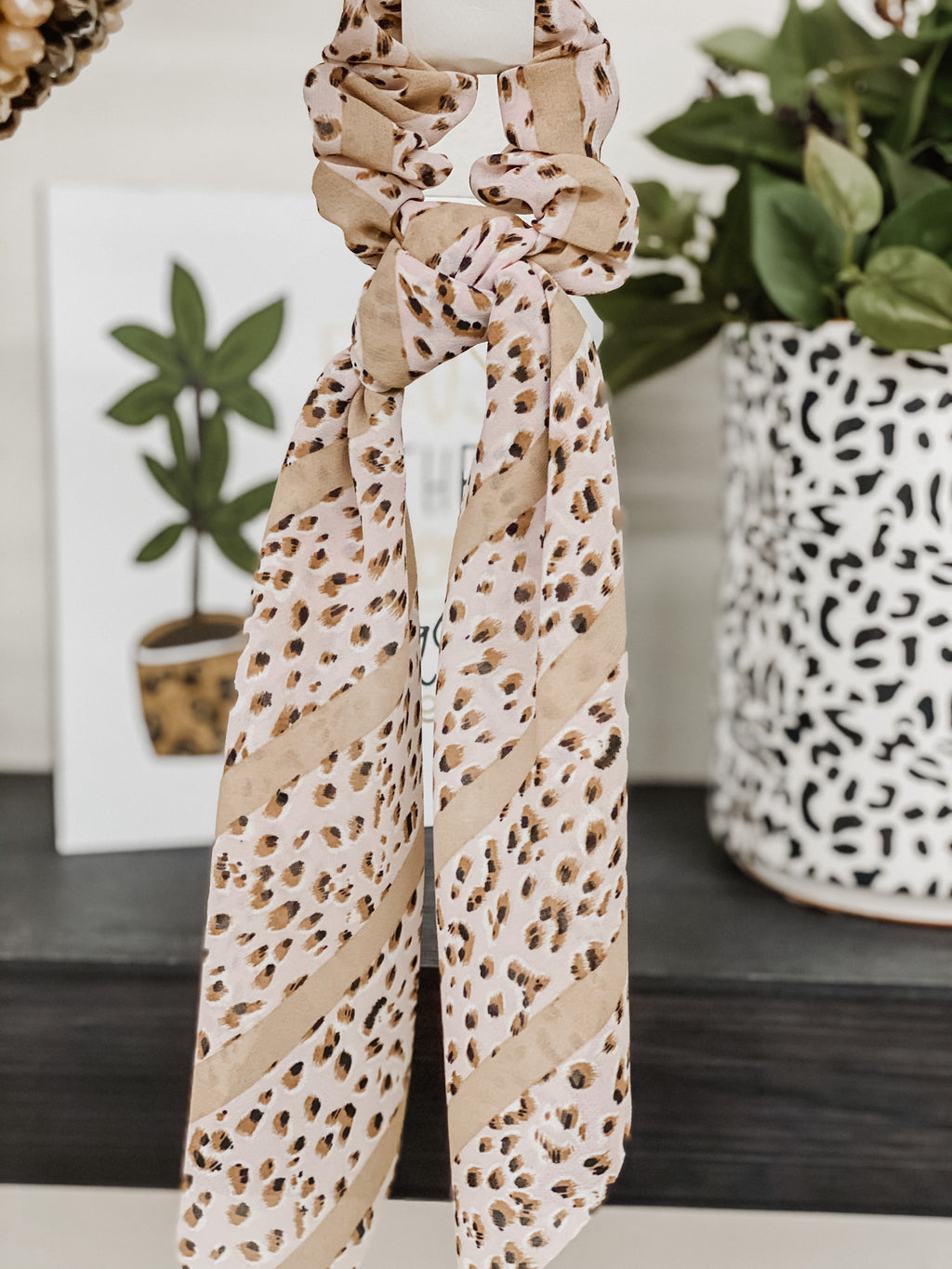 Cheetah Blush Hair Scarf