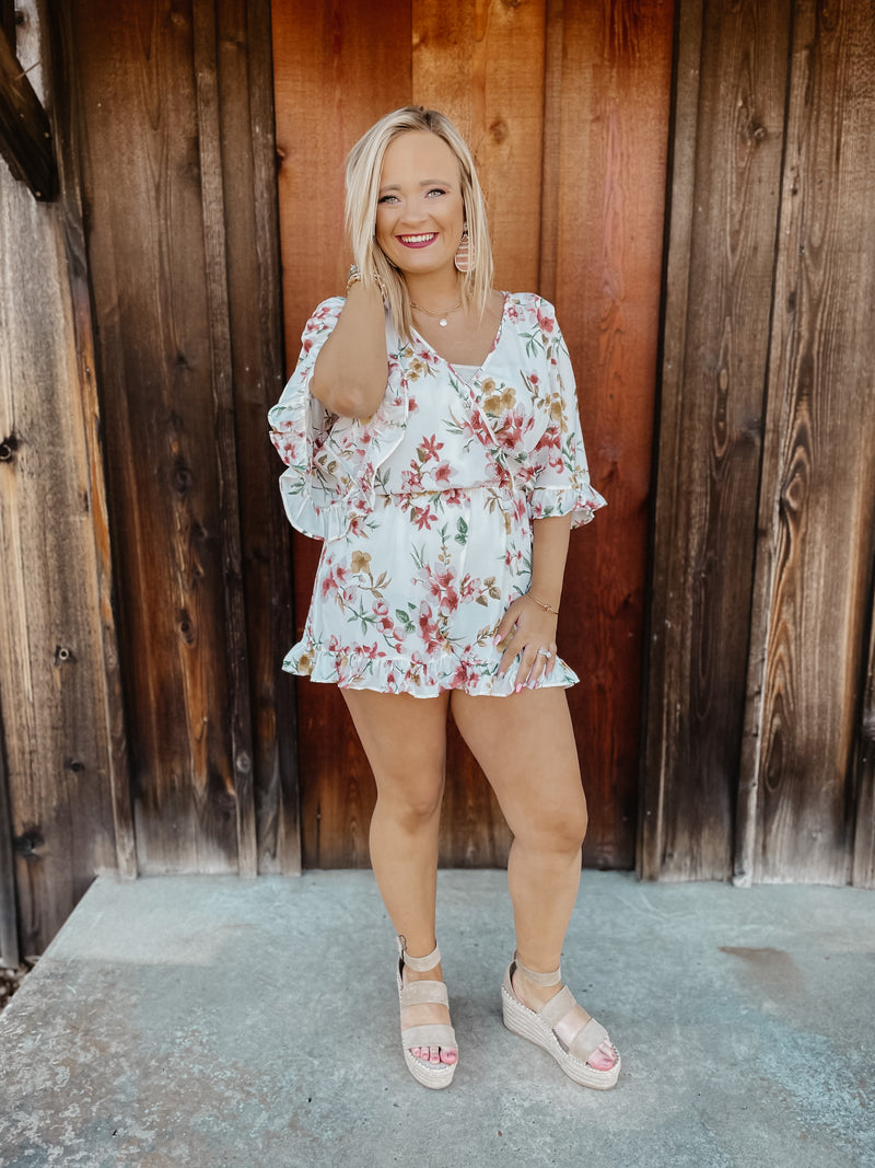 Spring Time Fun Floral Romper