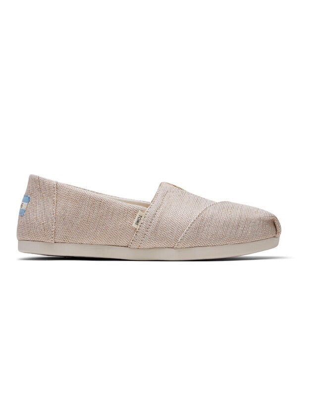 The Classic Natural Metallic Shoe By Toms