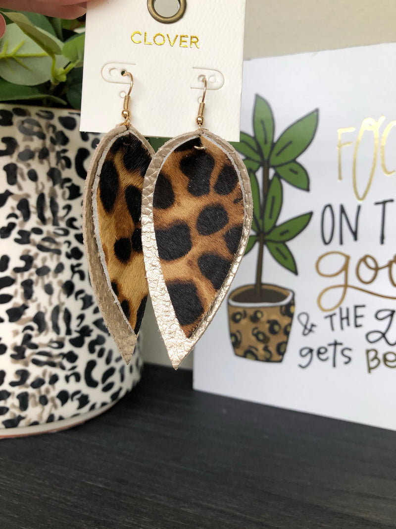 Have Fun Tonight Leopard Earrings