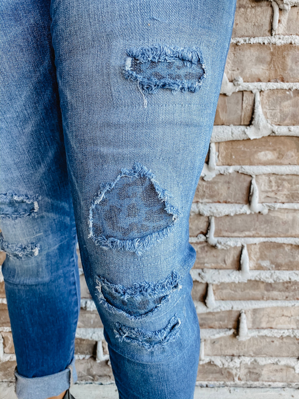 The Elle Patched Jeans