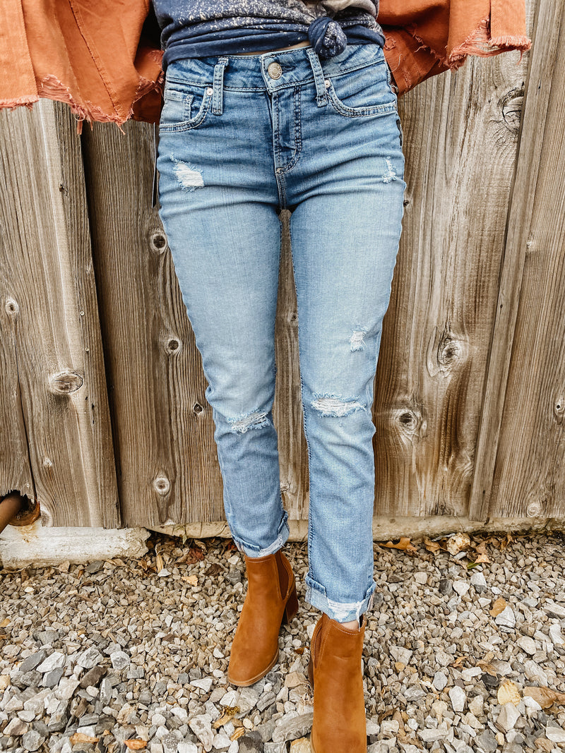 Avery High-Rise Curvy Fit Straight Leg Jean By Silver 27""