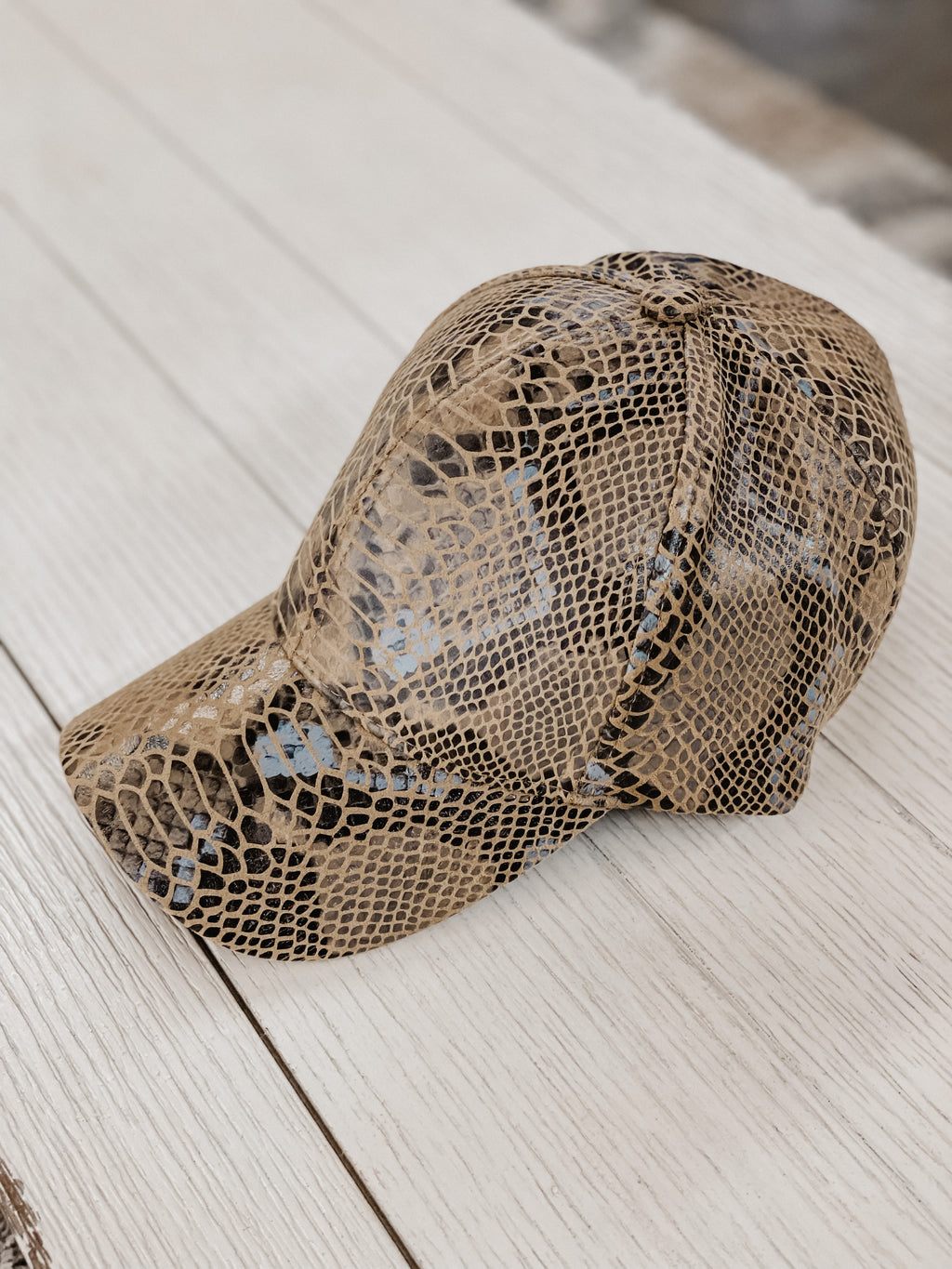 City Streets Snake Skin Hat Brown