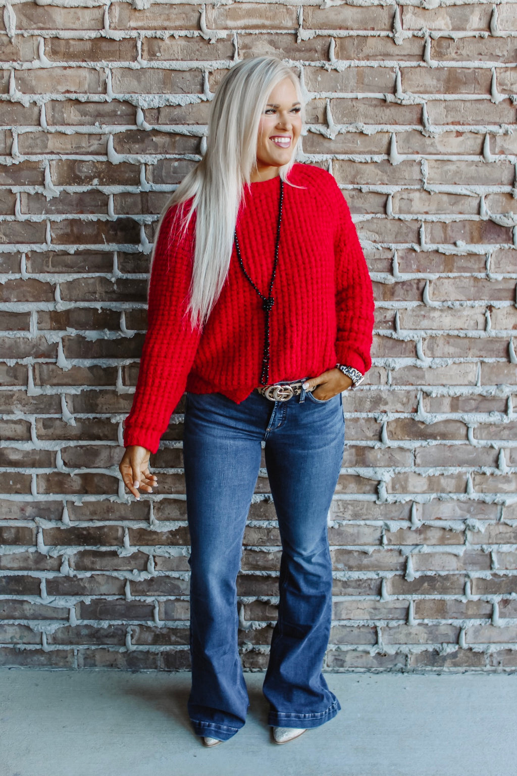 Tribal Crimson Sweater