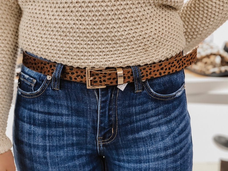 Sassy Rectangle Leopard Belt