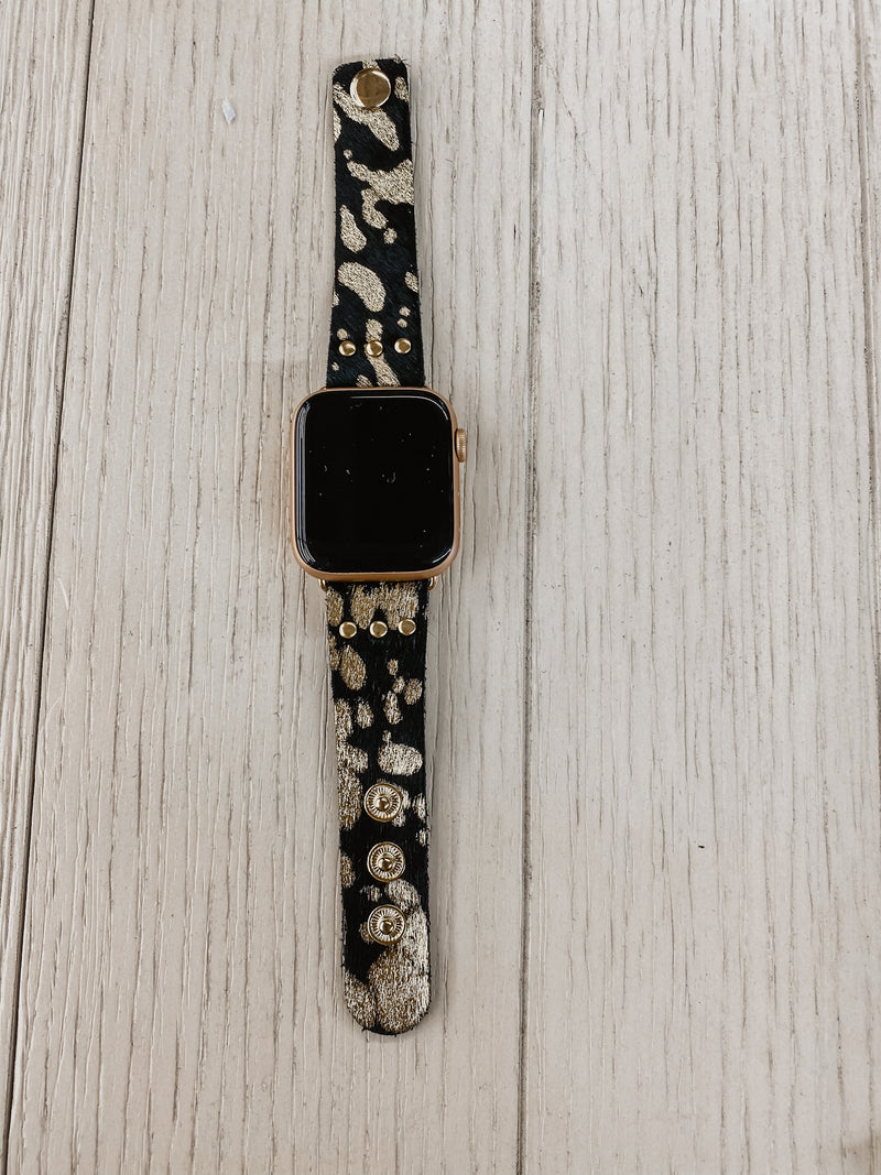 Gold Cow Buckle Apple Watchband