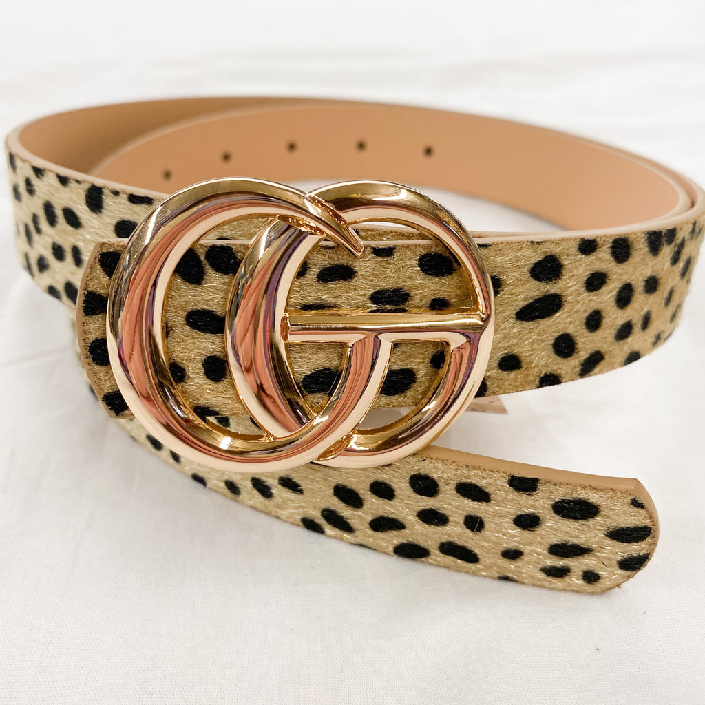 The Latest Trend Skinny Belt Dalmatian